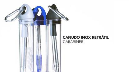 Canudo de Inox Retrátil