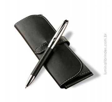 Caneta BLACK LEATHER PEN