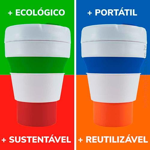 Copo de Silicone Pocket Sustentável