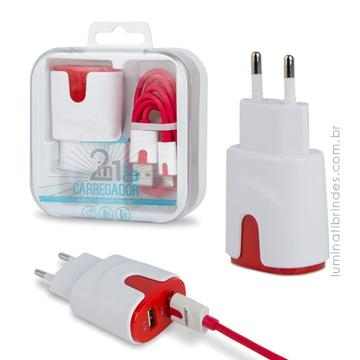 Kit Carregador 2 USB