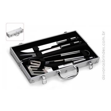 Kit Churrasco Maleta STEEL