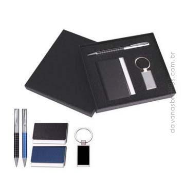 Kit Executivo Haia - Caneta, Chaveiro e Porta Cartão