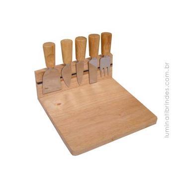 Kit queijo Wood Magnet