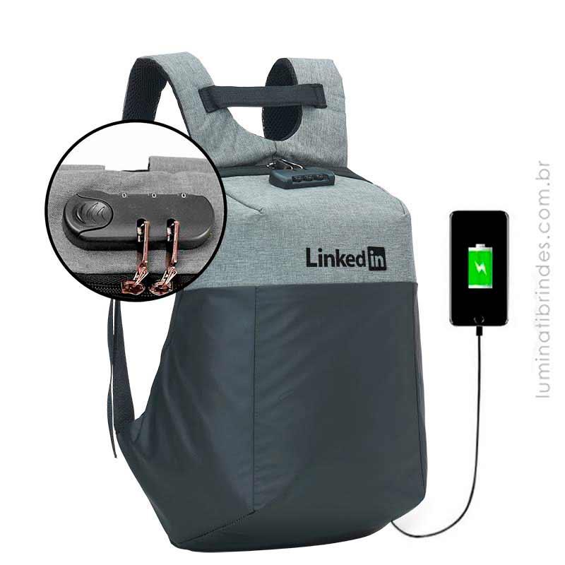 Mochila Executiva Lock  USB