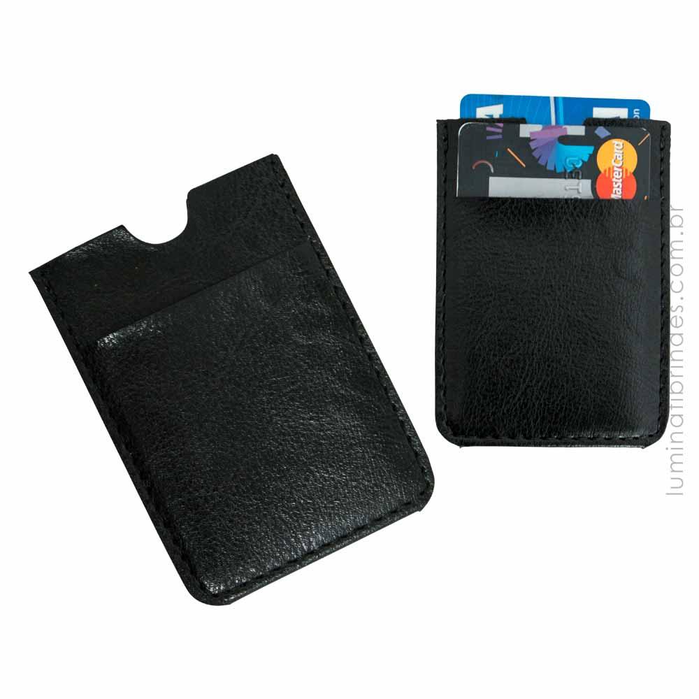 Porta Cartão para Celular em Couro