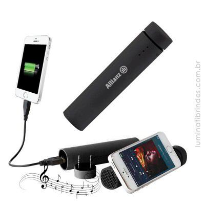 Carregador e Caixa de Som com Bluetooth - POWERJAM
