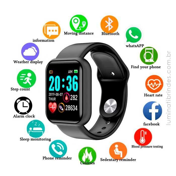 Relógio Inteligente Personalizado Square Pro