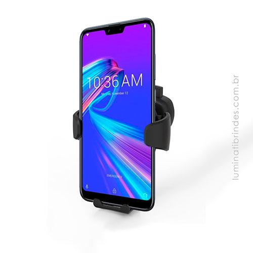 Porta Celular Veicular com Carregador Wireless